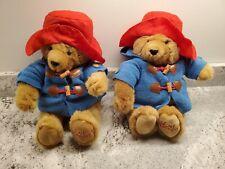 "Paddington 13"" Bears Plush Stuffed Animal Blue Coats, Red Hats Hamley's London"