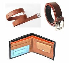 Combo of 3 products Tan Belt,Black Wallet and Brown Belt with FREE LED LIGHT