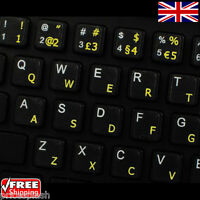 Portuguese Traditional Transparent Keyboard Stickers With Yellow Letters