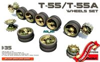 Wheels set for T-55/T-55A Tank, Plastic Model Kit 1/35 Miniart 37058