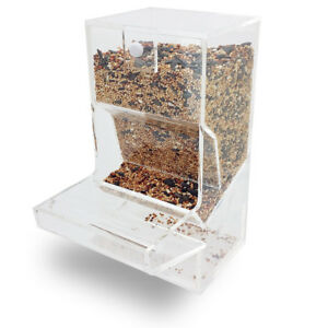 NEW! TIDY BIRD FEEDER - PARROT/CANARY/COCKATIEL ACRYLIC CAGE SEED HOPPER TRAY
