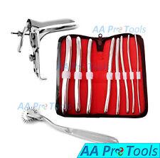 AA Pro: Hegar Urethral Sounds dilator kit + Graves Speculum Small+ Pinwheel SS