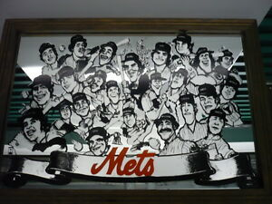 VERY RARE 1977 24x16 NEW YORK METS TEAM MIRROR - (Tom Seaver, Jerry Koosman)....