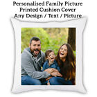 Personalised Family Pic Photo Sofa Cushion Cover Custom Print Throw Pillow Gift