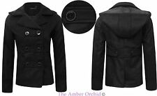 Women's No Pattern Double Breasted Outdoor Polyester Coats & Jackets