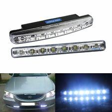 2 Stk Auto 8 LEDs Tagfahrlicht Tagfahrleuchten Kopflampe Scheinwerf Lampen Weiß