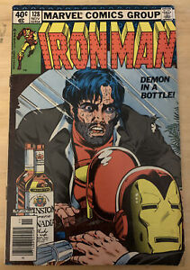 Ironman #128 (11/79, Marvel) Classic Demon In A Bottle Story!
