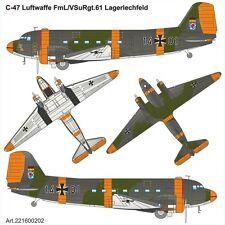 Arsenal-M HO scale DOUGLAS C-47 Luftwaffe FmL/VSuRgt.61 Lagerlechfeld kit