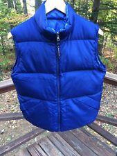 L.L. Bean Women's Ladies S Reversible Blue Down Puffer Vest Jacket