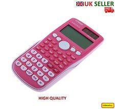 Full Scientific Solar Calculator Casio FX-85GT Plus 260 Functions GCSE - Pink