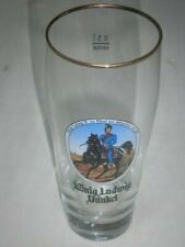 Bierglas König Ludwig Dunkel Glas Biergläser Cup sehr edel 0,3l Gläser