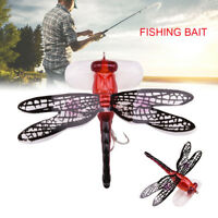 7cm Fishing Bait Lure Hook Life-like Dragonfly Floating Fly Fishing Insect Bait