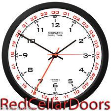 "TRINTEC ZULU CLOCK 12 & 24 HOUR DUAL TIME UTC MILITARY HAM SHACK SWL DSP2 10"""