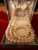 "BelledeMer Pearl Necklace 36"" Cultured Freshwater Pearl Endless Strand (8-1/2mm)"