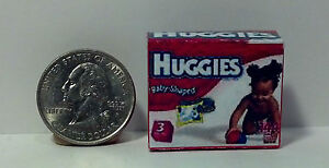Dollhouse Miniature Baby Diapers Box H 1:12 one inch scale H120 Dollys Gallery