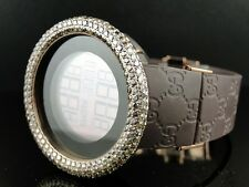 Mens Brand New 52Mm Bezel I Gucci Digital Ya114209 Brown Diamonds Watch 10 Ct