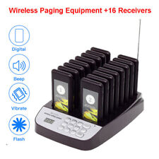 Restaurant Call 16Pcs Coaster Pagers Guest Queuing Pager Wireless Paging System