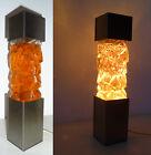 Lampe Vintage à paillettes Orange An 70's JAN20