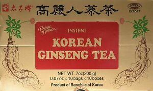 Prince of Peace Korean Ginseng Instant Tea, 100 Sachet – Natural Red Panax Gi...