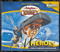 NEW Heroes Volume #3 Adventures in Odyssey Focus on the Family 12 Stories 4 CD