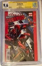Deadpool #45 SS CGC 9.6 Horn Signed 50th Anniversary Variant🔥 1st Evil Deadpool