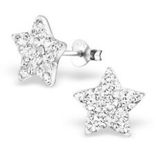 925 sterling silver Crystal star earrings bridal special occasion ear studs