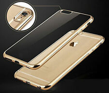 iPhone 6 / 6S Silicone Gold Color Bumper Clear TPU Jelly Slim Back Cover Case