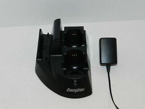 Black Nintendo Wii Energizer Charging Station LED PL-8507 Controllers Remotes