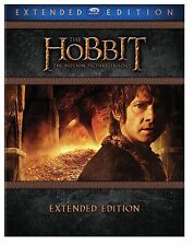 THE HOBBIT TRILOGY EXTENDED EDITION BLURAY BRAND NEW W/SLIPCOVER 9 DISC SET