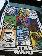Star Wars Classic Grid Full size Comforter  9 characters reversible NICE!
