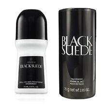 (2pc) Avon Black Suede Talc Powder & Matching Roll-On Antiperspirant Deodorant