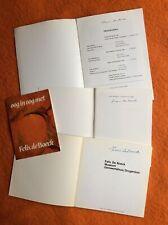 FÉLIX DE BOECK(1898-1995) trois dédicaces signées