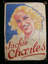 Gaston GIRBAL original c. 1930 poster de Jackie Charles-français entertainer