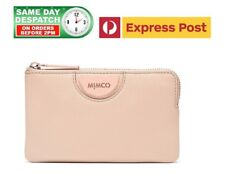 MIMCO ECHO Wide Small Pouch PANCAKE ROSE GOLD Wallet BNWT + FREE EXPRESS POST