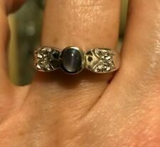 100% Authentic Natural Cat'S Eye Alexandrite Sterling Silver Ring ~ Wow