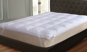 New Luxury Duck/Goose Feather & Down Mattress Topper Available In All Sizes