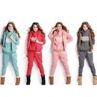 Korea New Women Sports Hoodies Coat+Vest+Pants 3pcs Sweat Suit Tracksuit M-2XL