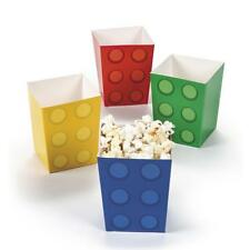 Block/Lego Popcorn Boxes...12 PACK...Lolly Treat Party Boxes...Brick