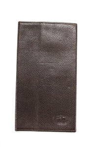 Longchamp Leather Checkbook Cover Brown