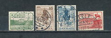 Denmark 258-61 used, King Christian 25th Anniversary 1937