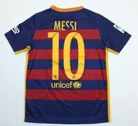 Kids Youth Boys Large Nike FCB Barca FC Barcelona Lionel Messi Jersey 2015