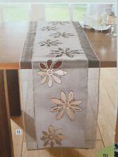 Tischläufer Organzablüte Braun neuwertig