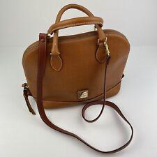 Dooney & Bourke Carmel Domed Safiano Leather Zip Zip Satchel Purse Handbag