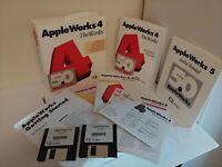 Vintage VTG AppleWorks 4 The Works 5.0 Diskettes Software & Manuals