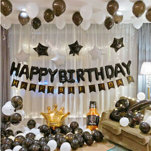 12 Inch Black Gold Confetti Self-inflating  Balloon Birthday Party Decoration