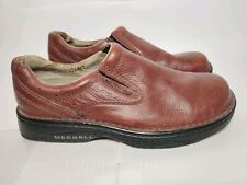 Men's Merrell World Legend Loafers Shoes Size 9 M Brown Leather Casual