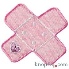 Applikation zum Aufbügeln Pflaster rosa mit Herz (#74160)