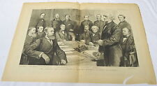 two page 1884 engraving ~ OPENING OF PARLIAMENT, Gladstone...LONDON