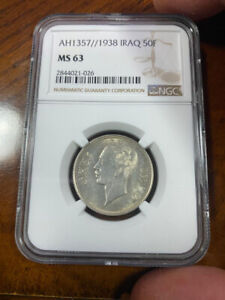 Iraq 1938 50F NGC certified C pictures for details read shipping instruct