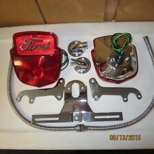 1953-56 Ford F100 stainless light kit, right & left pair with Ford script.